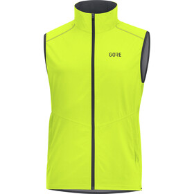 GORE WEAR R3 Windstopper Liivi Miehet, neon yellow